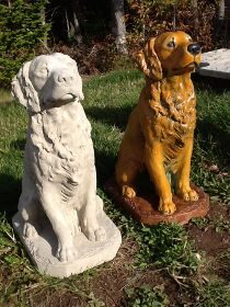 Concrete Dog Statues Unique Lawn Garden Statues