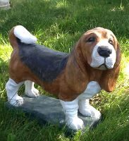 Beagle Standing Concrete Dog Statue.