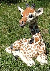 Baby Giraffe Garden Statue