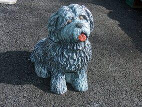 Amazing Sheep And Shih Tzu Dog Statue