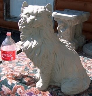 Beau Persian Cat Concrete Only