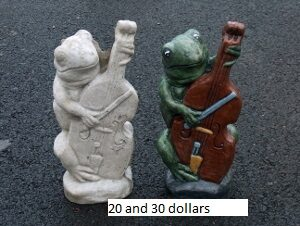 14 Inches Tall 6 Wide And Itu0027s Weight Is 10 Lbs, Made From Concrete Stained  Not Painted, Garden Frog Statue