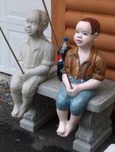 Concrete People Statues Unique Lawn Garden Statues
